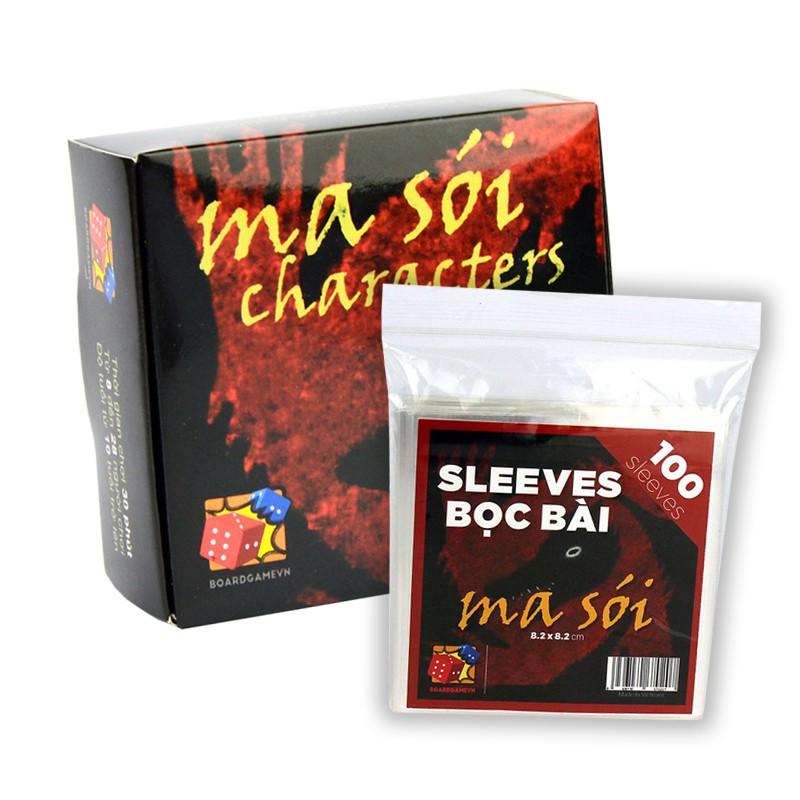 [150k Free ship] Combo Ma sói Characters + 1 gói bọc bài Ma sói