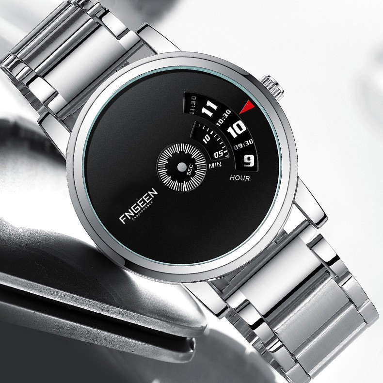 Đồng hồ nam FNGEEN F023F Mặt tròn thiết kế đẹp mắt, sáng bóng dành cho phái mạnh tự t