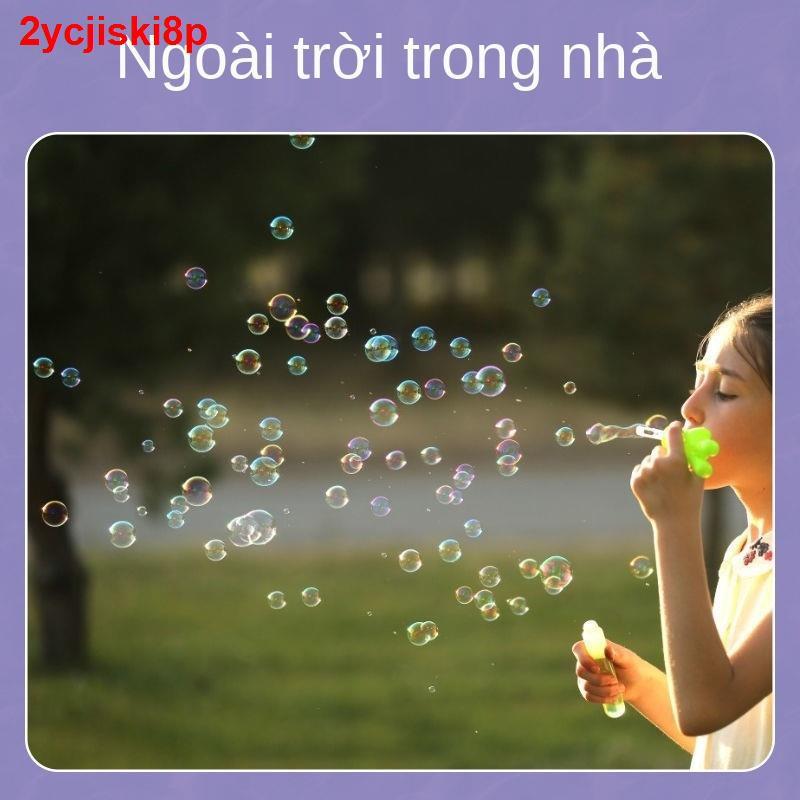 Trẻ em thổi bong bóng đũa phép mini nhỏ máy bổ sung nước đóng chai đồ chơi net cô gái nổi tiếng sẽ không làm vỡ k
