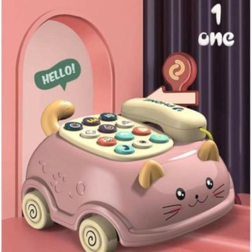 Đồ chơi trẻ em ô tô có 16 chức năng, 64 bài hát nhạc điện thoại có nhạc và đèn mầu xanh, vàng tím