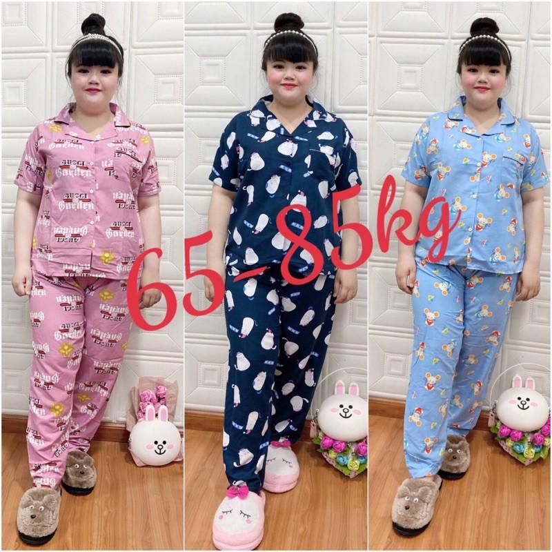 Mặc gì đẹp: Ngủ ngon với Bộ pijama Tay ngắn quần dài Bigsize 65-85kg