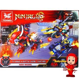 Bộ Lego Xếp Hình Ninjago Chiến Xa Rồng. Gồm 294 Chi Tiết. Lego Ninjago Lắp Ráp Đồ Chơi Cho Bé. Lego Ninjago