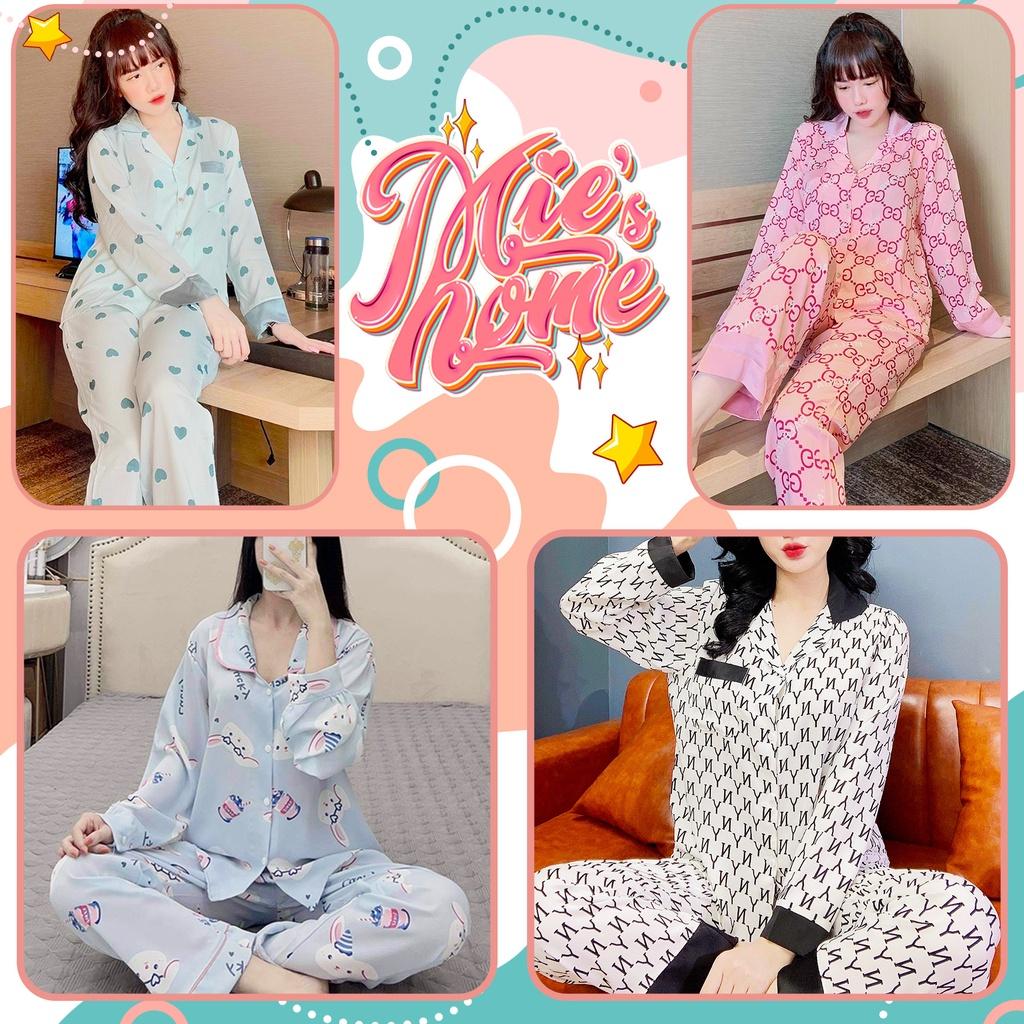 Mặc gì đẹp: Ngủ ngon với Đồ bộ nữ mặc nhà,pijama tay dài quần dài,lụa mango-Mie