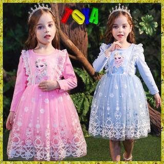 (Hàng có) Toya Váy công chúa tay dài elsa