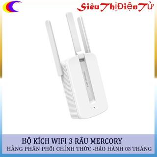 Bộ Kích sóng wifi mercusys 3 râu dùng điện 220v cắm trực tiếp- Bộ phát wifi 3 râu cực khỏe sóng ổn định