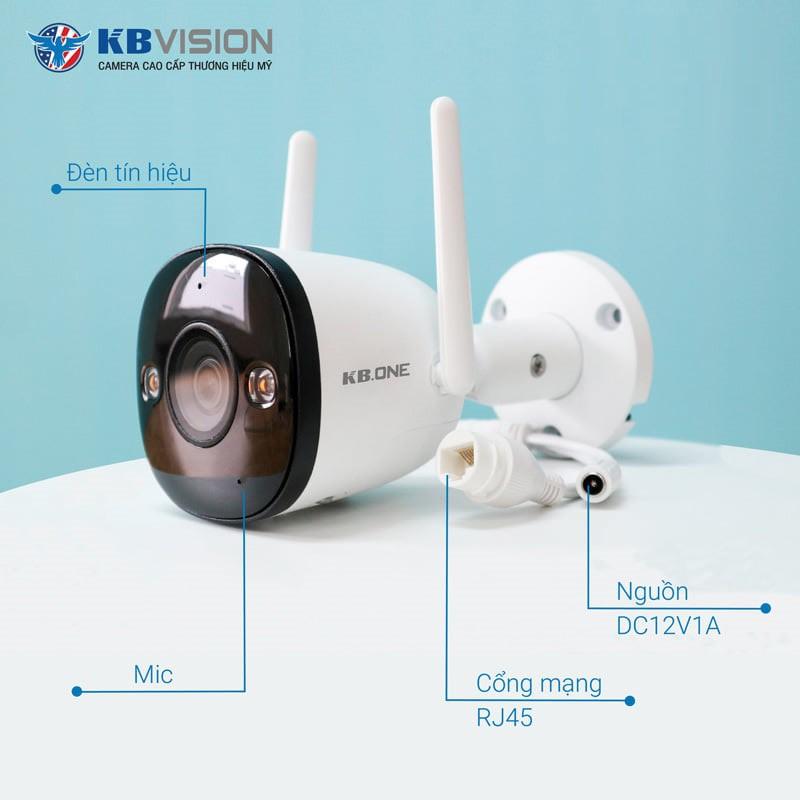 Camera Wifi KBONE KN B21F KN B21 KN B21FL HD 1080 - Camera Ngoài trời, Ăng  ten kép, có màu ban đêm | Shopee Việt Nam