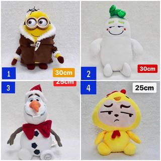 Gấu bông đồ chơi Bắp cải, Minion, Olaf, Vàng mặt ngầu siêu dễ thương