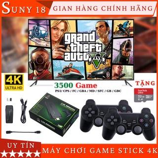 Máy Chơi Game Cầm Tay 4 Nút Không Dây - Game Stick 4K Kết Nối Cổng HDMI Có Sẵn 3500 Game Tặng Kèm Thẻ Nhớ 32Gb thumbnail