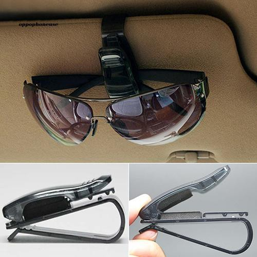 OPHE_Fashion Black Auto Car Vehicle Visor Glasses Sunglasses Ticket Card Holder Clip