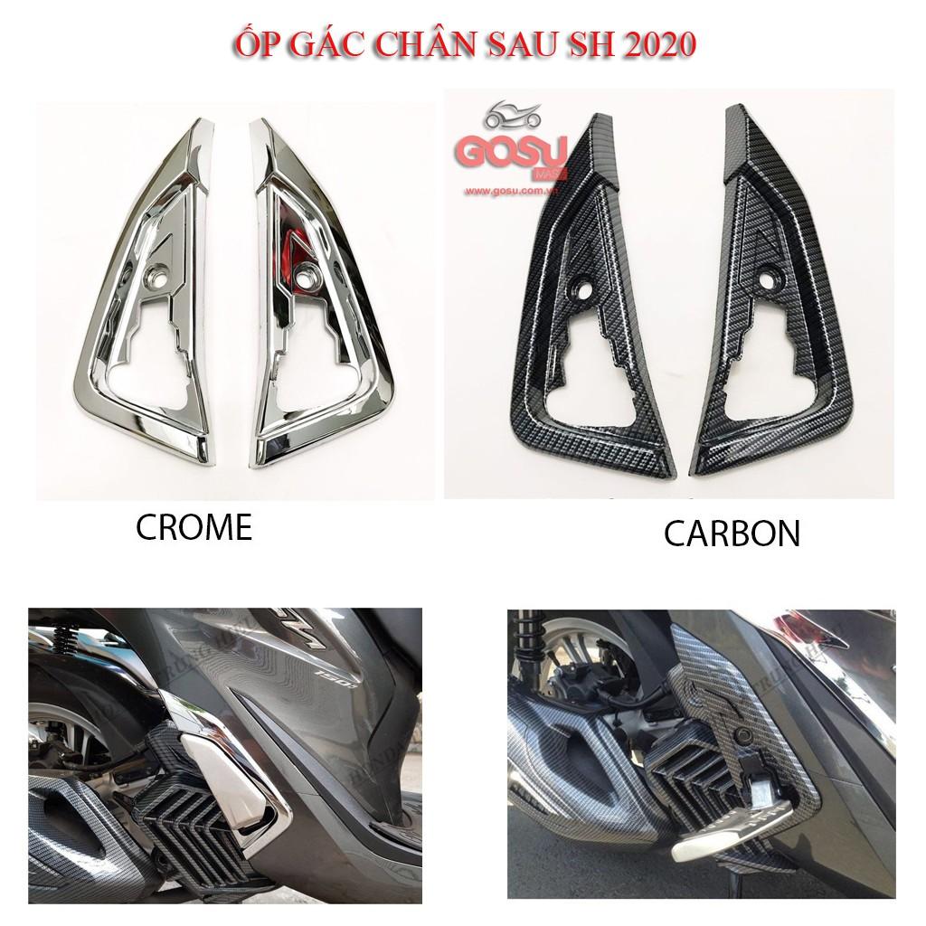 ỐP GÁC CHÂN SH2020 (Một đôi) CACBON - CROME
