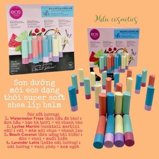 Son dưỡng môi eos dạng thỏi super soft shea lip balm set 8 cây thumbnail