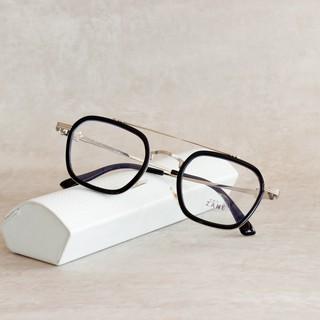 [LẮP SẴN CẬN] – Gọng kính cận nam nữ, mắt kính chữ nhật, gọng kính 2 cầu, tròng kính đổi màu, chống ánh sáng xanh z015