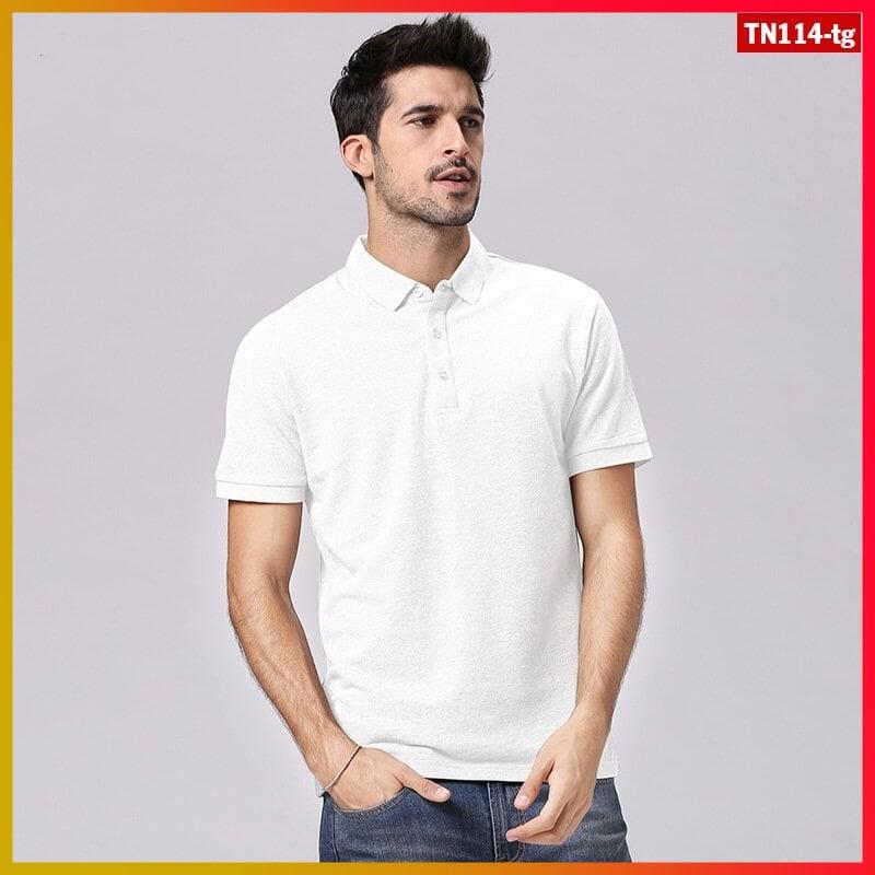 áo thun nam tay ngắn trơn có cổ TN114 nhiều màu sắc chất sợi tre pha trẻ trung