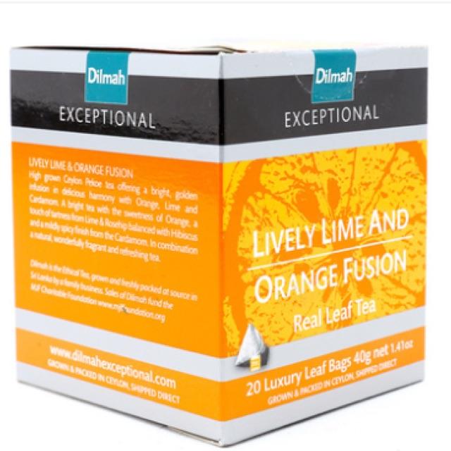 Trà Lively Lime And Orange Fusion Dilmah 20 túi*2g