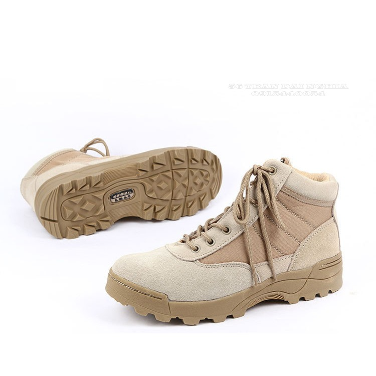 [ĐỔ SỈ] Giày COMBAT ORIGINAL SWAT Mỹ thấp cổ KAKI full size 38 => 44 (cao cổ + thấp cổ) (màu đen + kaki)