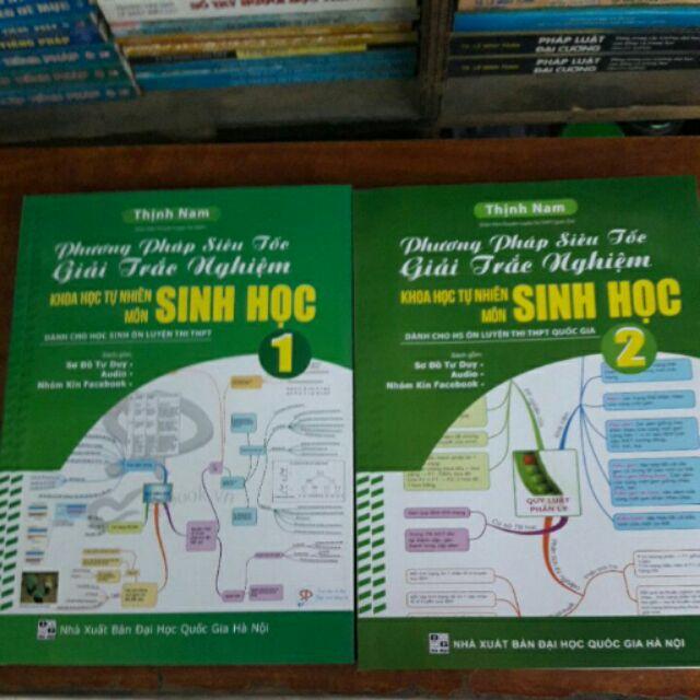 Sách ôn thi đại học môn Sinh gồm 2 tập