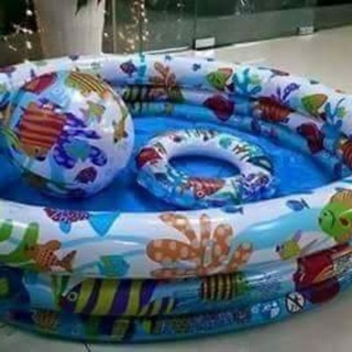 Bộ bể bơi phao 3 chi tiết tặng kèm miếng dán