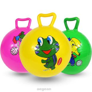 Leg Strength Coordination Jumping Indoor Outdoor Cartoon Pattern Exercise Sport With Handle Inflatable Ball