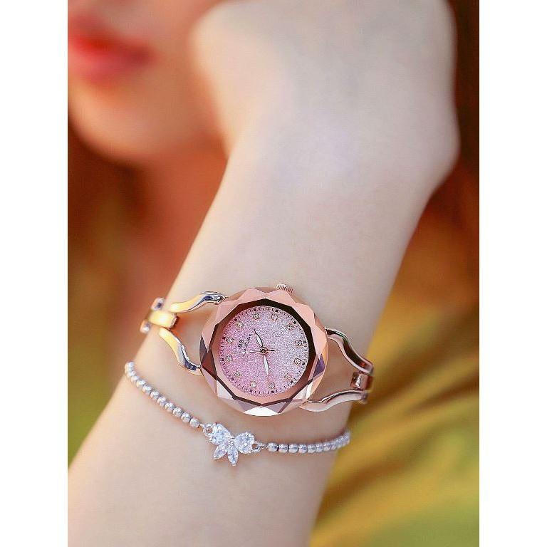 Đồng hồ nữ Bee Sister BS0673 Hồng Kông Chính hãng Mặt kính cứng chỗng xước tuyệt đối phong cách trẻ trung