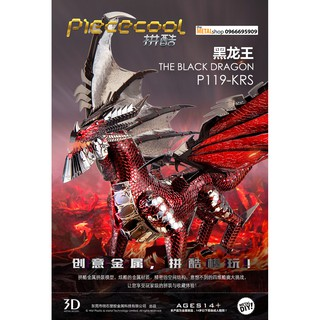Mô Hình Lắp Ghép 3d Kim Loại rồng đen