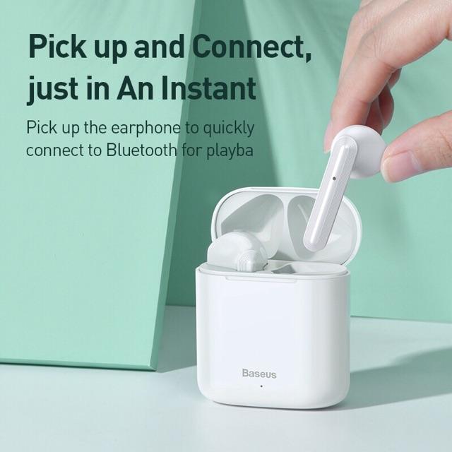 Tai Nghe Bluetooth Không Dây Baseus W09 Tws Có Điều Khiển Âm Thanh Sống Động Chất Lượng Cao