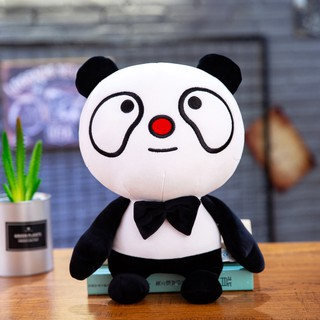 Cute cartoon panda doll doll plush toy children's small pillow rag doll birthday gift for girls