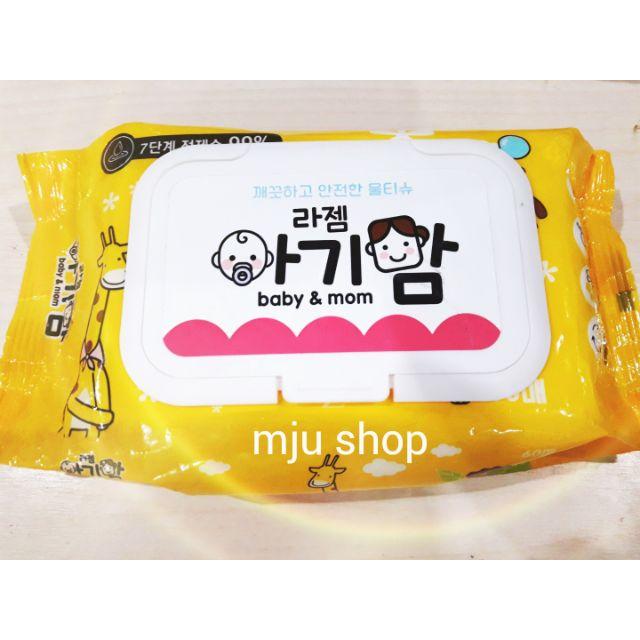 Khăn ướt Hàn Quốc baby & mom (60 tờ)