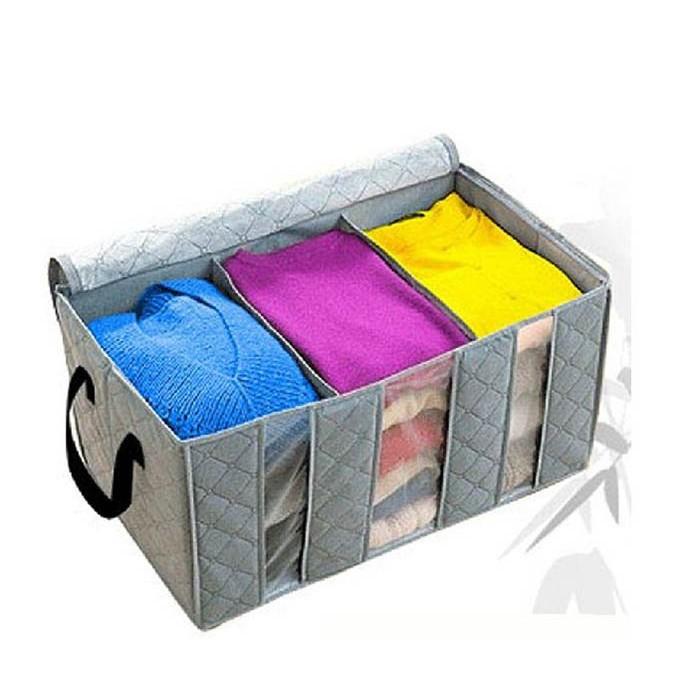 Hộp vải 3 ngăn đựng quần áo tiện dụng