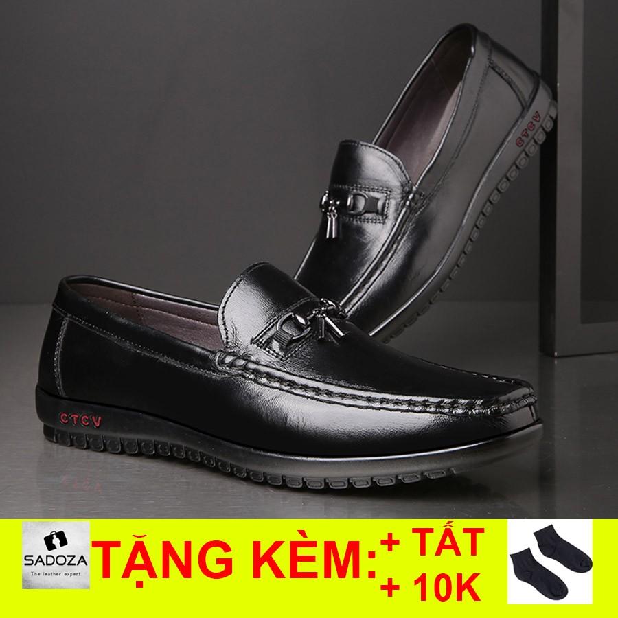 Giày Lười Nam - FREESHIP - Giày Nam Đẹp Da Bò Mềm Mại GD96