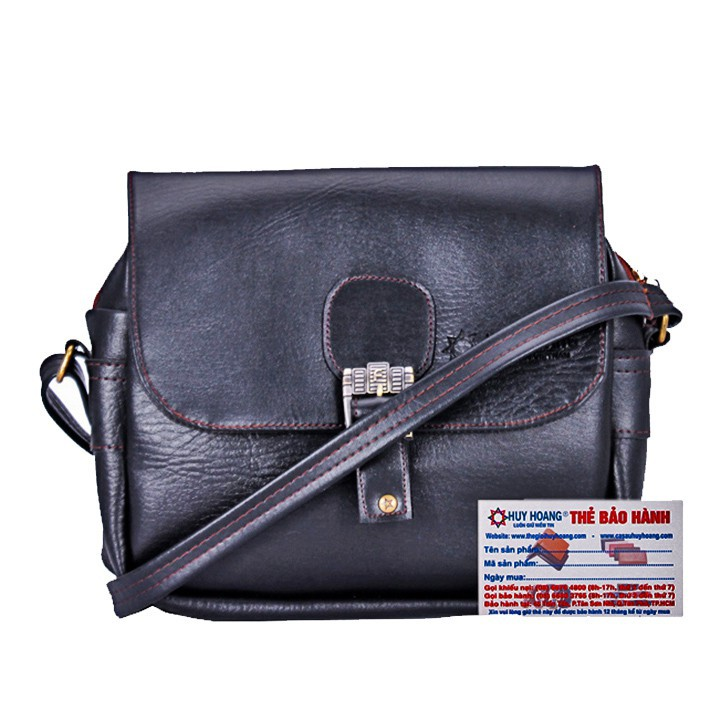 Túi xách 1 khóa Huy Hoàng màu đen XH6103