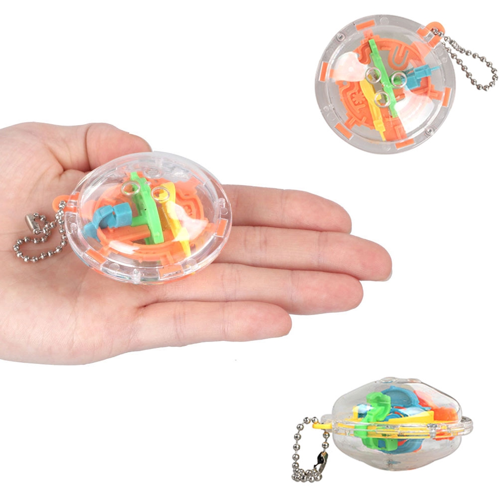 30 Barriers 3D Magic Mint Ball Game Puzzle Rotating Cube Children Toys