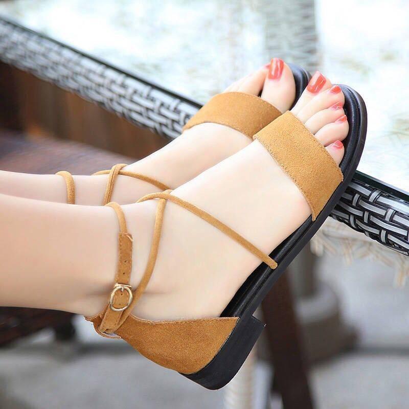 Women Sandals Open Toe Shoes Women'S Sandles Fashion Square Heel Shoes