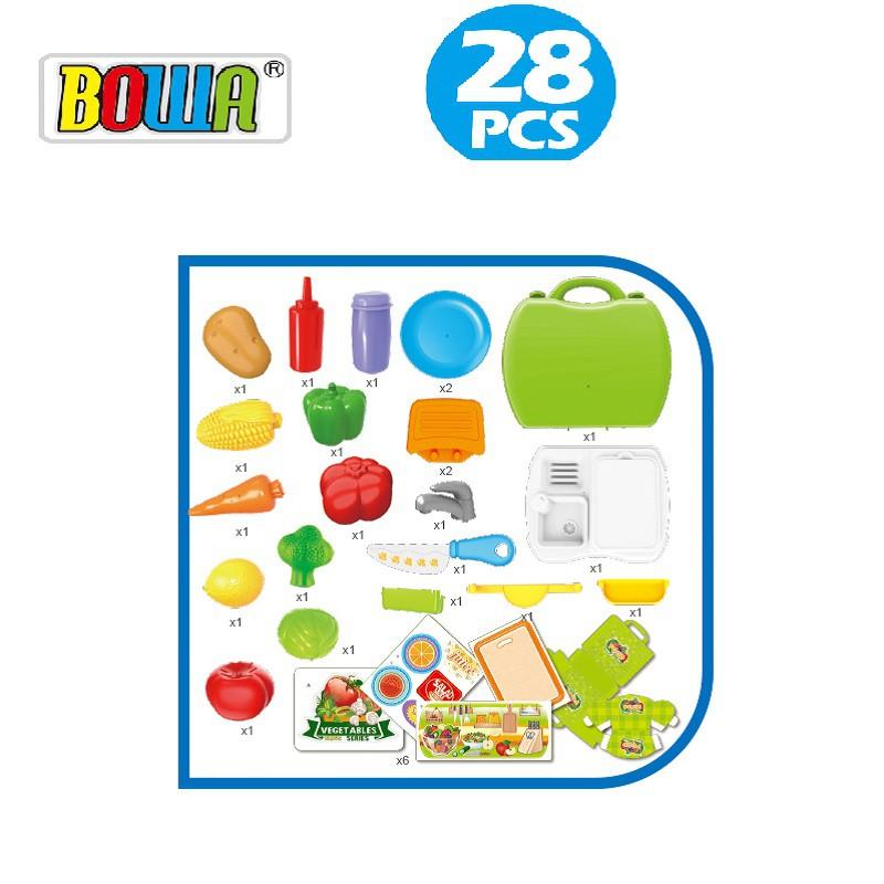 Bộ đồ chơi nhập vai BOWA 8349A - Rau củ quả 28 loại