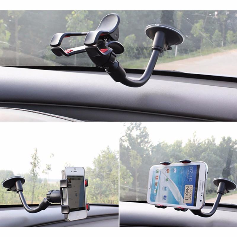 Giá đỡ điện thoại trên ô tô đế hút chân không - Soft Tube Holder