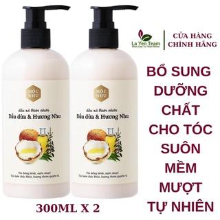 Dầu Xả Dầu Dừa Hương Nhu Mộc Nhu - Combo 2 Chai 300ml Nuôi Dưỡng Mái Tóc Suôn Mềm Mượt thumbnail