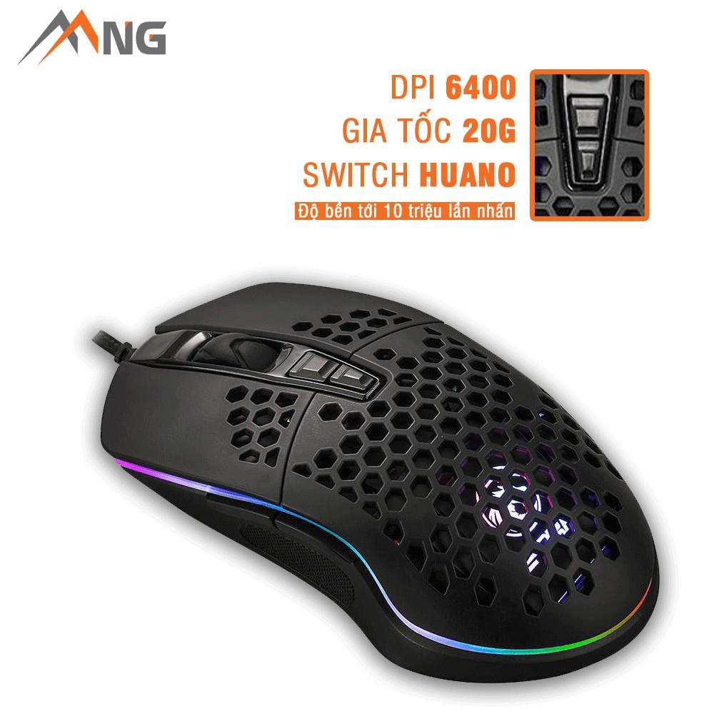 Chuột Gaming E-Dra EM616 Tối Đa 6400 DPI Đèn Led Có Dây Bảo hành 24 tháng