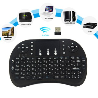 Mini 2.4GHz Wireless Keyboard i8 Portable Black Keyboard with Touchpad for Windows 2000/XP/Vista/CE/Win 7/Win 8/Linux