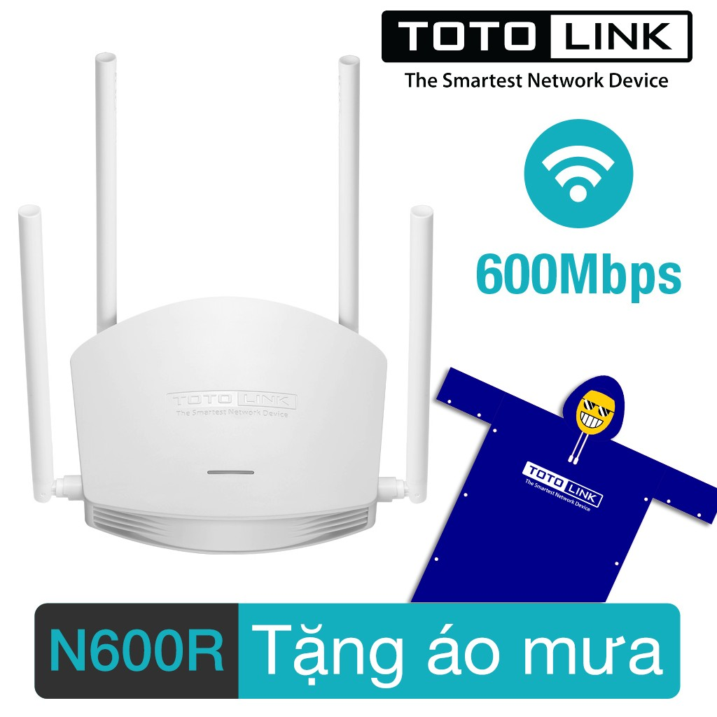 Bộ phát sóng wifi Totolink N600R 600mps 4 anten + tặng áo mưa - 3043911 , 232647816 , 322_232647816 , 429000 , Bo-phat-song-wifi-Totolink-N600R-600mps-4-anten-tang-ao-mua-322_232647816 , shopee.vn , Bộ phát sóng wifi Totolink N600R 600mps 4 anten + tặng áo mưa