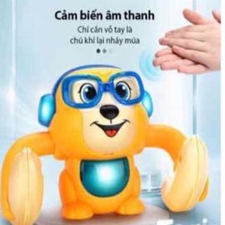 Đồ Chơi Cho Bé – Chú Khỉ Nhào Lộn 360 Độ Cảm Biến Âm Thanh Hỗ Trợ Giọng Nói