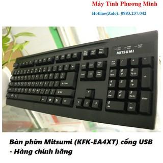 Bàn phím Mitsumi (KFK-EA4XT) cổng USB – Hàng chính hãng