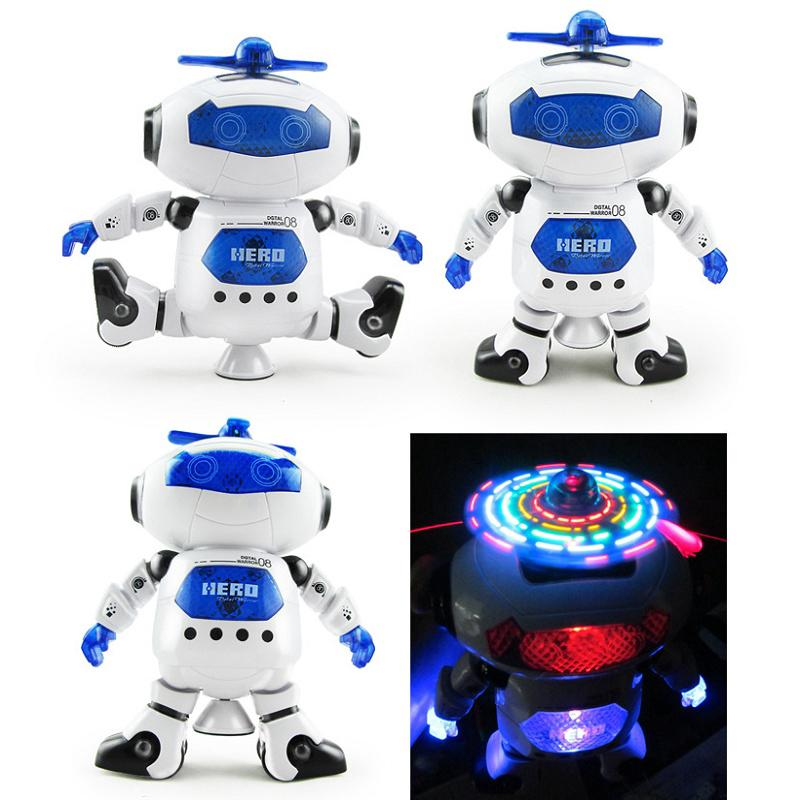 【NearUP】ONSALE Dancing Robot Spinning Musical Toys Boys Kids Toddler Light Helicopter Juguete