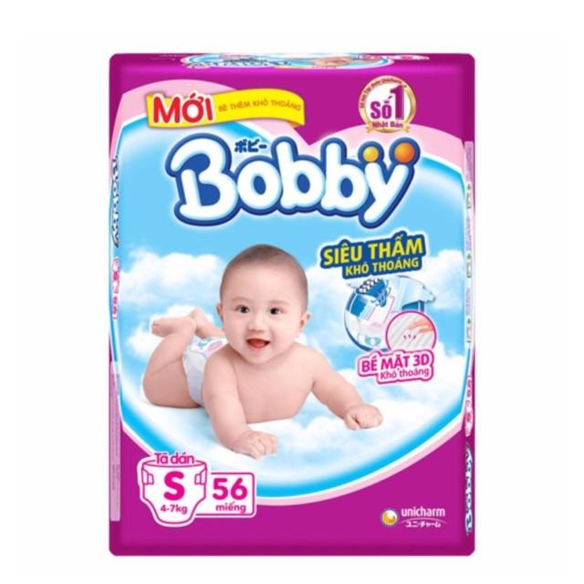 Combo 112 miếng tã dán Bobby size S