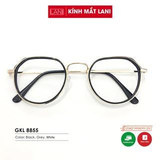Gọng kính cận nam nữ đa giác nhiều màu, càng kính thiết kế đẹp thời trang Lani 8855 - Lắp Mắt Cận Theo Yêu Cầu thumbnail