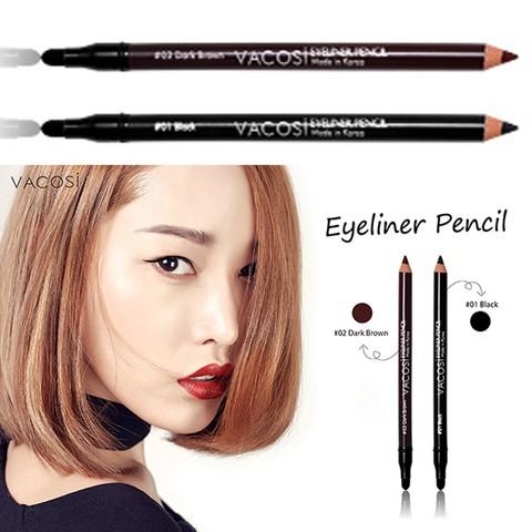 Chì Kẻ Viền Mắt 2 Đầu Vacosi Eyeliner Pencil