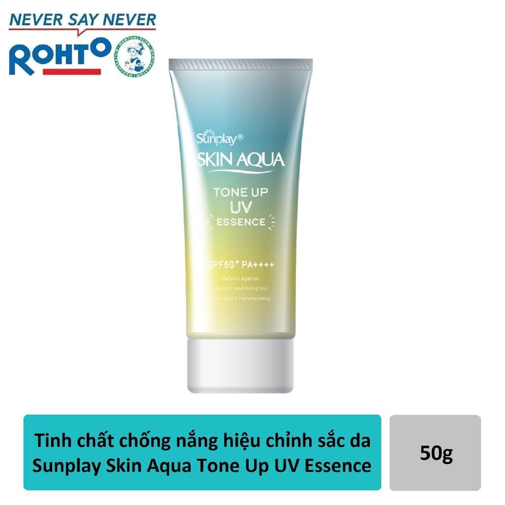 Tinh chất chống nắng dưỡng ẩm nâng tông che khuyết điểm Sunplay Skin Aqua Tone Up UV Essence