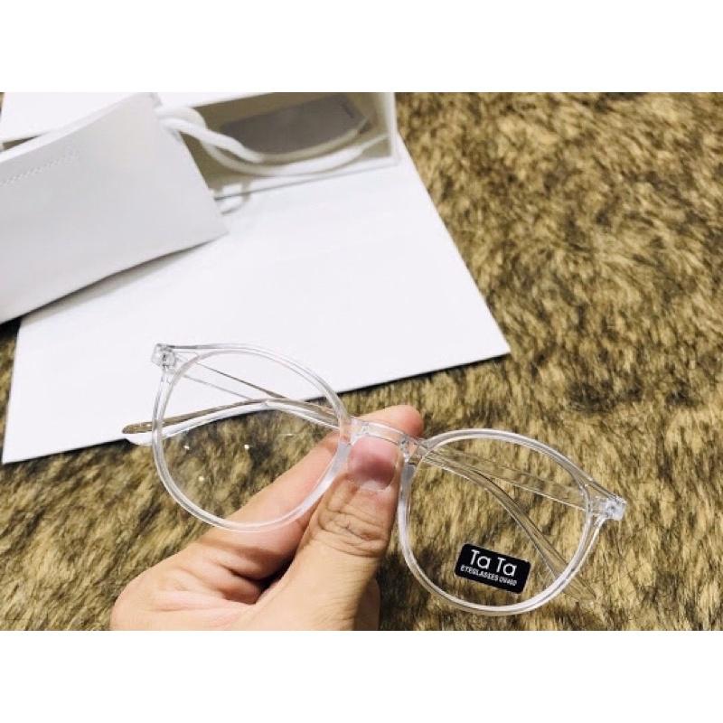 Kính Tata Tròn -Mắt kính form bầu kiểu dáng thời trang