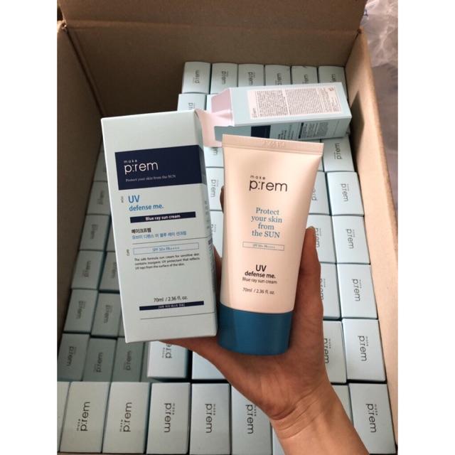 Kem Chống Nắng Vật Lý Make P:rem UV Defense Me Blue Ray Sun Cream 70ml