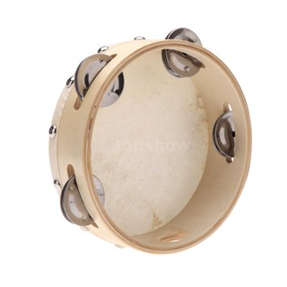 Tsm★6in Hand Held Tambourine Drum Bell Metal Jingles Percussion Musical Toy for