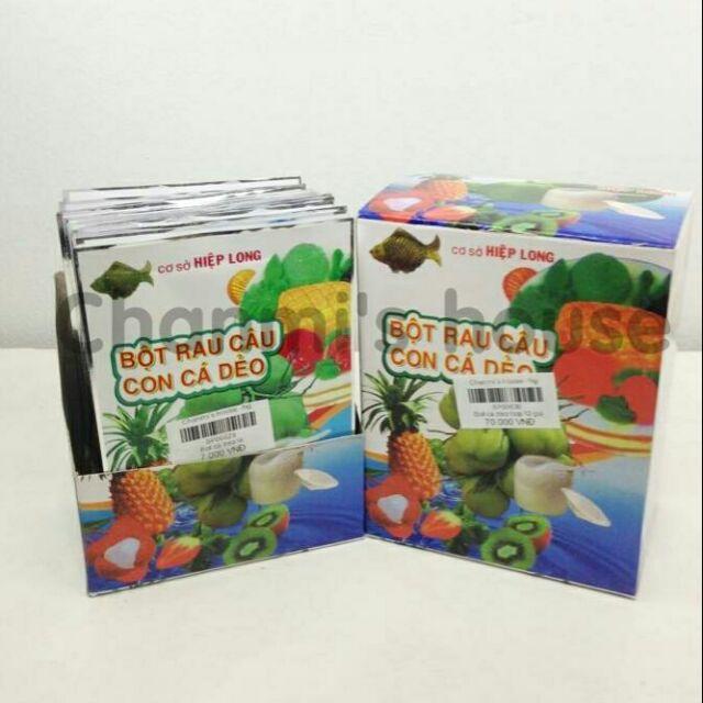 bột rau câu con cá dẻo hộp 12 gói