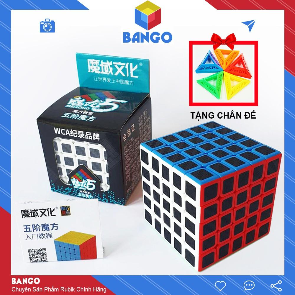 Rubik 5×5 Carbon Moyu Meilong Giá Rẻ Magic Cube Đồ Chơi Thông Minh Rubic BANGO RC05